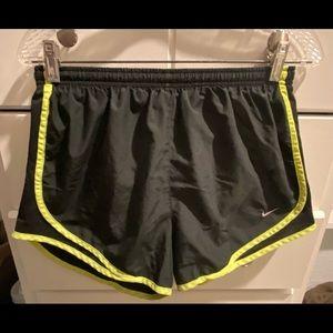 Black/yellow Nike Dri Fit Running Shorts